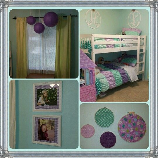 Teal, purple and green girls room. | For the Home | Pinterest