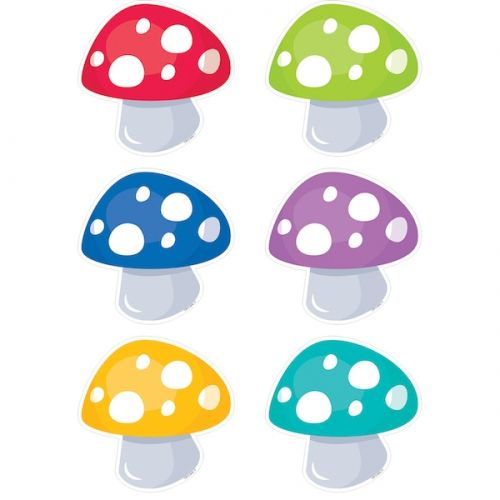 """Woodland Friends Toadstools 6"""" Designer Cut-Outs, CTP6006"""
