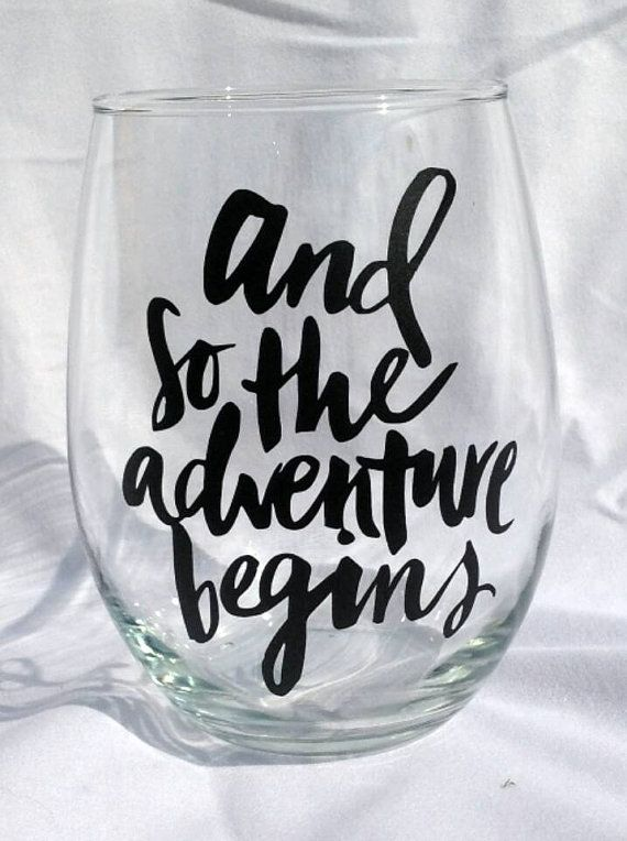 And so the Adventure Begins - Stemless Wine Glass - 20 oz And so the Adventure Begins - Stemless Wine Glass - 20 oz