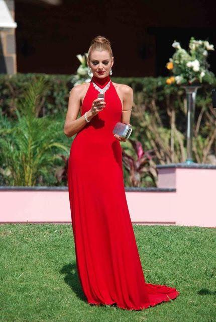 Red Long Dress (Marjorie de Sousa)