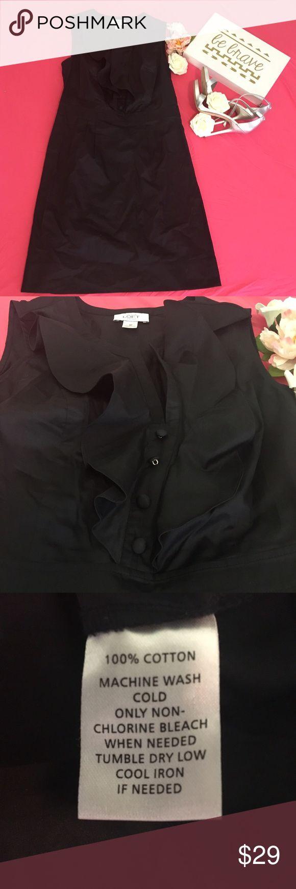 ANN TAYLOR LOFT DRESS SIZE 8 UNWORN Ann Taylor Loft dress size 8 black unworn LOFT Dresses