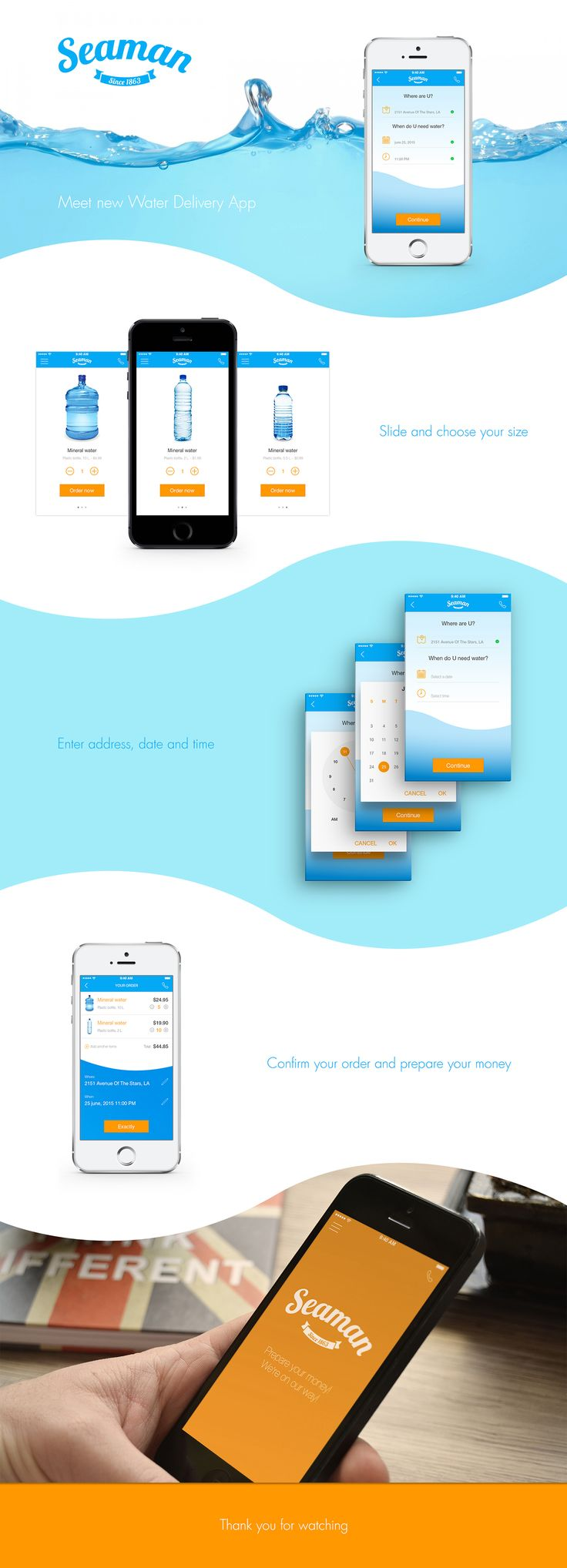 Seaman - Water Delivery App on Behance