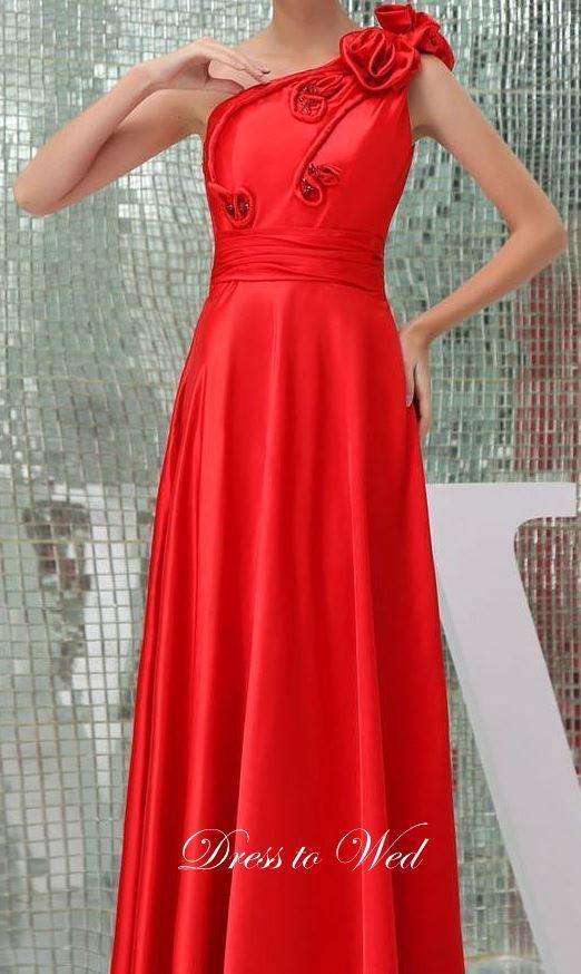 One shoulder fantastic dress dresstowed@gmail.com