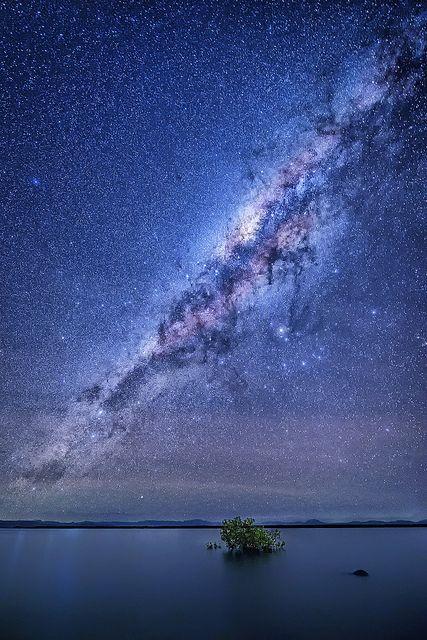 Milky Way as seen from Wilson Beach, Queensland.