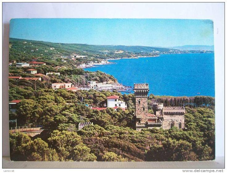 Livorno - VG 1971 - Quercianella - Panorama - Costa degli etruschi - Castello
