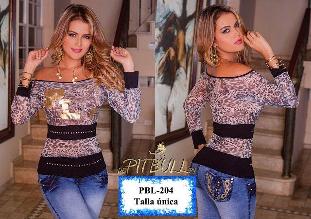 Nueva colección de Blusas colombiana PitBull