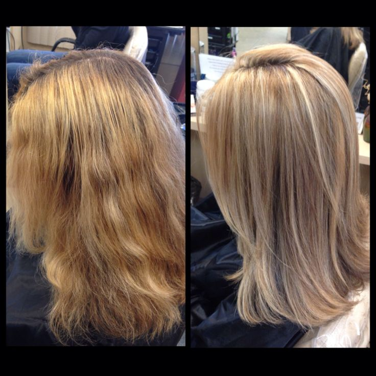 Color Correction Highlights And Lowlights Light Blonde With Medium Warm Brown Laura Michelle