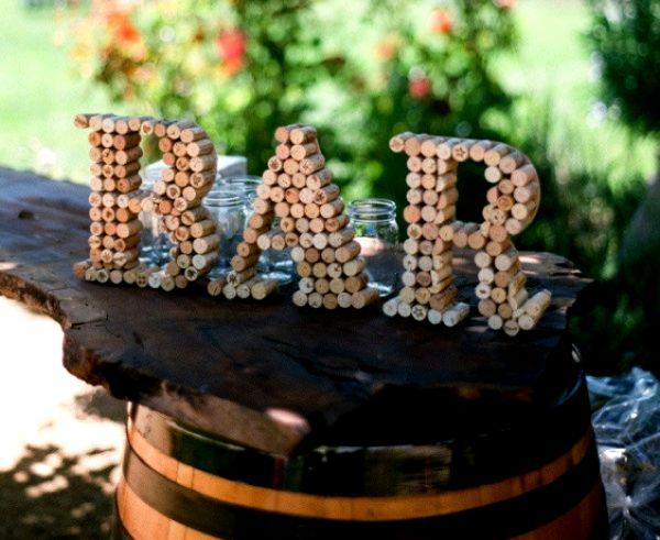rolhas de vinho na decoração                                                                                                                                                      Mais