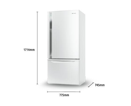 'ideal' fridge freezer, Panasonic: Bottom Mount Refrigerator: NR-BY552XWAU