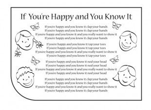 If You're Happy And You Know It nursery rhyme lyrics. Find lots more at iChild.co.uk