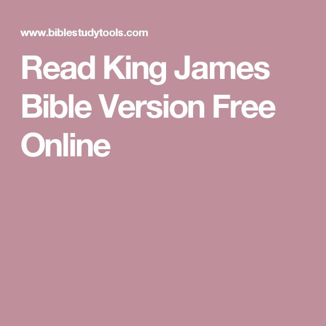 Read King James Bible Version Free Online