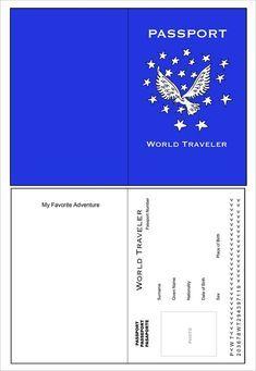 Doc.#680523: 13 Premium Printable Passport Templates Free ...