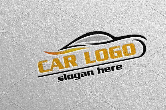 Car Logo For Sport Rent Or Mechanic Car Logos Car Logo Design Logo Design Typography