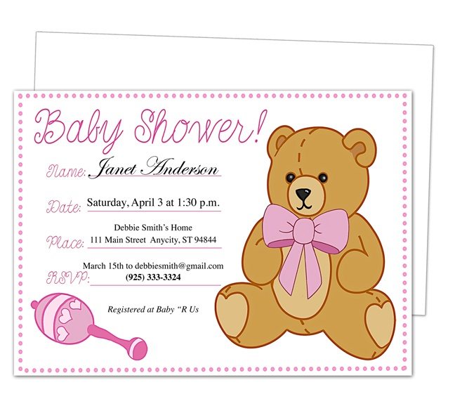 42 best Baby Shower Invitation Templates images on Pinterest - baby shower invitation templates for microsoft word