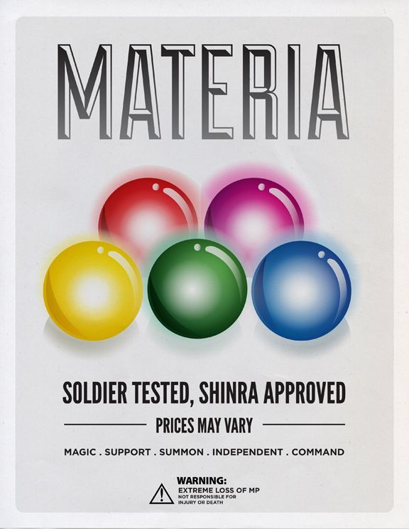 Materia - Video Game and Cartoon Ads by Steph Chow