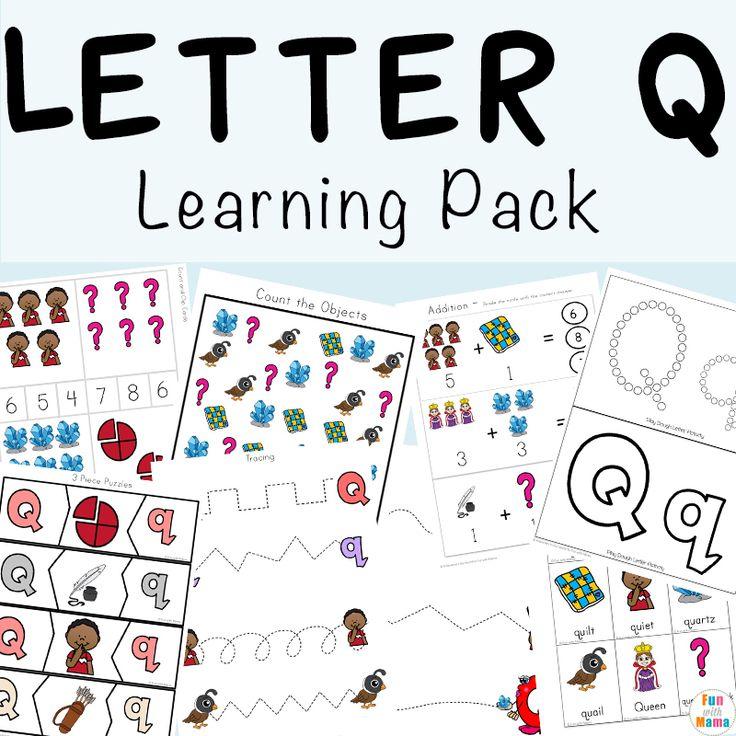 Letter Q Preschool Printable Pack Preschool art