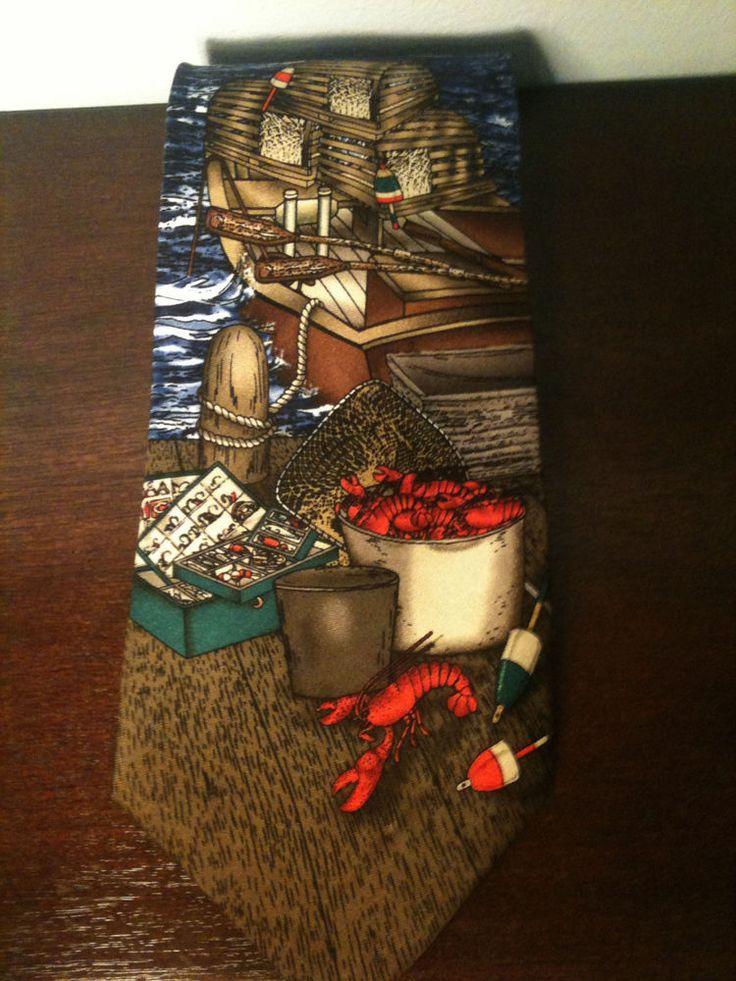 Rivetz of Boston Lobster Fishing Necktie #NeckTie