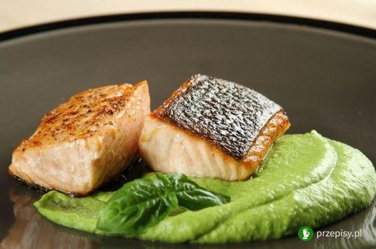 Łosoś saute z musem warzywnym #salmon #dinner #fish