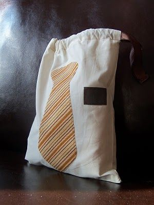 Made as a shoe shine kit for a missionary, but this would be a cute church bag for a little boy!