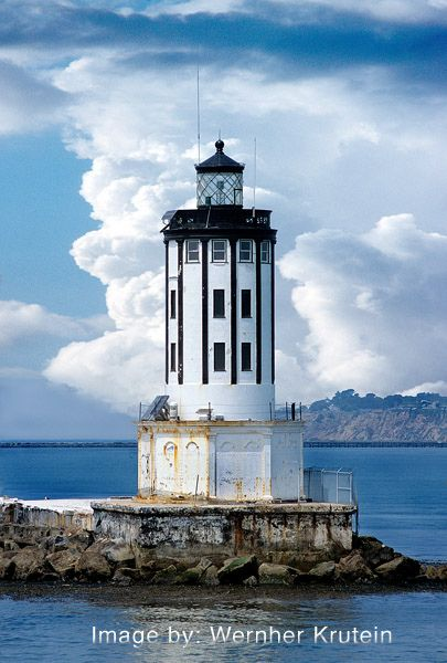Angel's Gate Lighthouse, Los Angeles Lighthouse, California, West Coast, Pacific Ocean