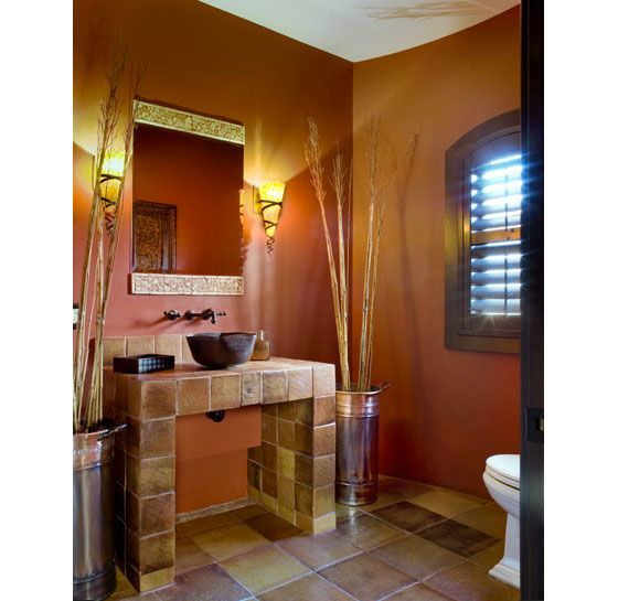The Uplights In The Powder Room Create A Nice Atmosphere For Guests