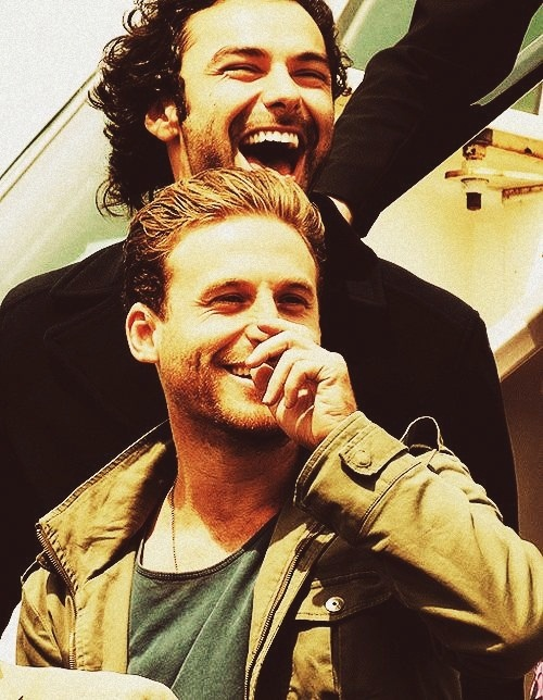 Aidan Turner and Dean O'Gorman