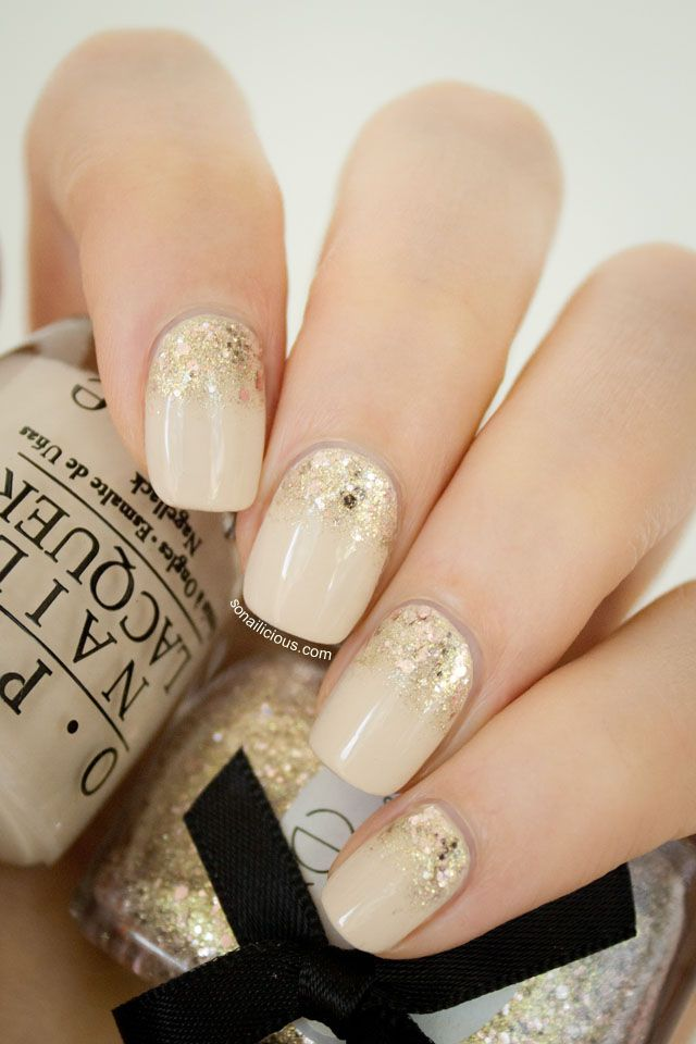 Best 25 glitter gradient nails ideas on pinterest nail tip the golden hour reverse glitter gradient nails prinsesfo Choice Image