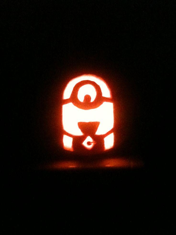 minion pumpkin for my babyu0027s first halloween