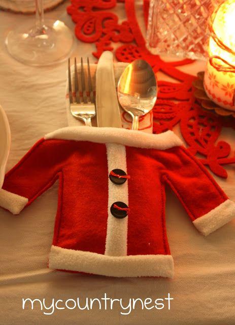 Espaço reservado e talheres Natal