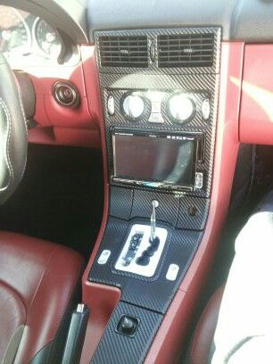 04 crossfire with red interior and carbon fiber wrap - 2004 chrysler crossfire interior ...