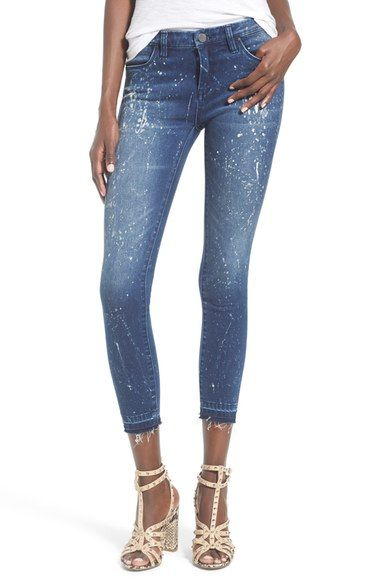 Free shipping and returns on BLANKNYC Paint Splatter Crop Skinny Jeans (Reef Blower) at Nordstrom.com. Ragged, released hems and generous paint-splattered details define the rough-and-tumble character of figure-sculpting skinny jeans cut in a trendy cropped length from ultrasoft stretch denim.