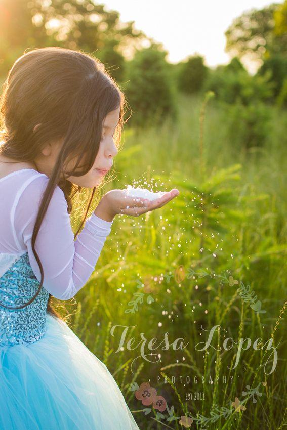 Frozen inspired session, beautiful queen Elsa dress.