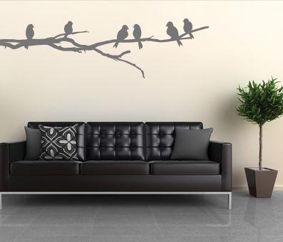 VÄGGDEKOR Fåglar på gren