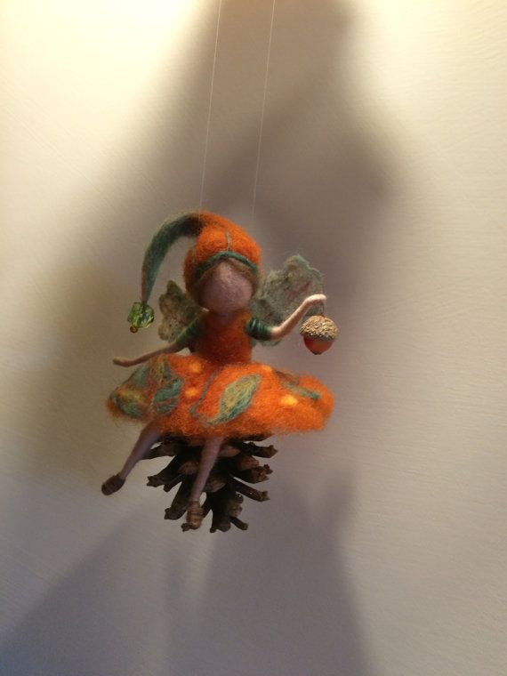 Needle felted Fairy Waldorf inspired Fairy in a by DreamsLab3