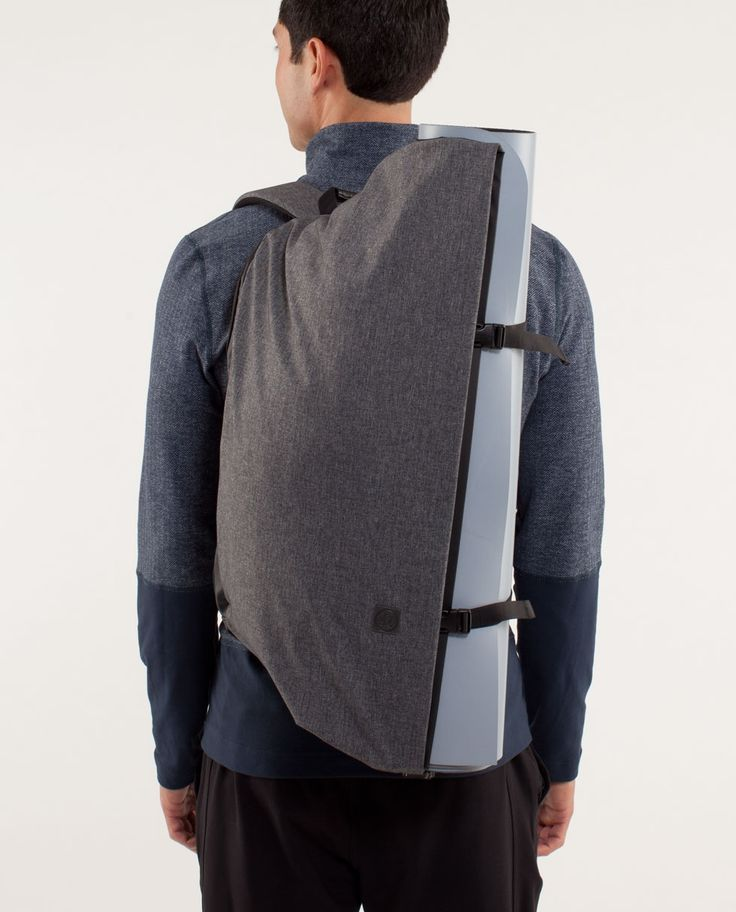 They designed this backpack to take you from home to work to workout without leaving anything behind. It's engineered to hold our yoga mat, laptop, a change of clothes and all the other gear that get you through your day... Lululemon proves once again why they are worth the price.    Kevin Noel onto iYoga