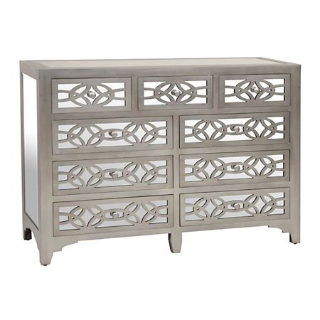 libby silver mirrored 9drawer dresser