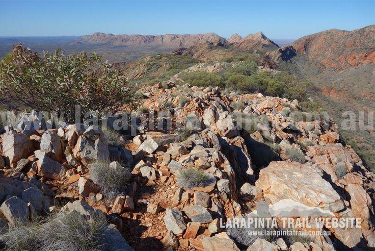Rugged terrain along Section 4