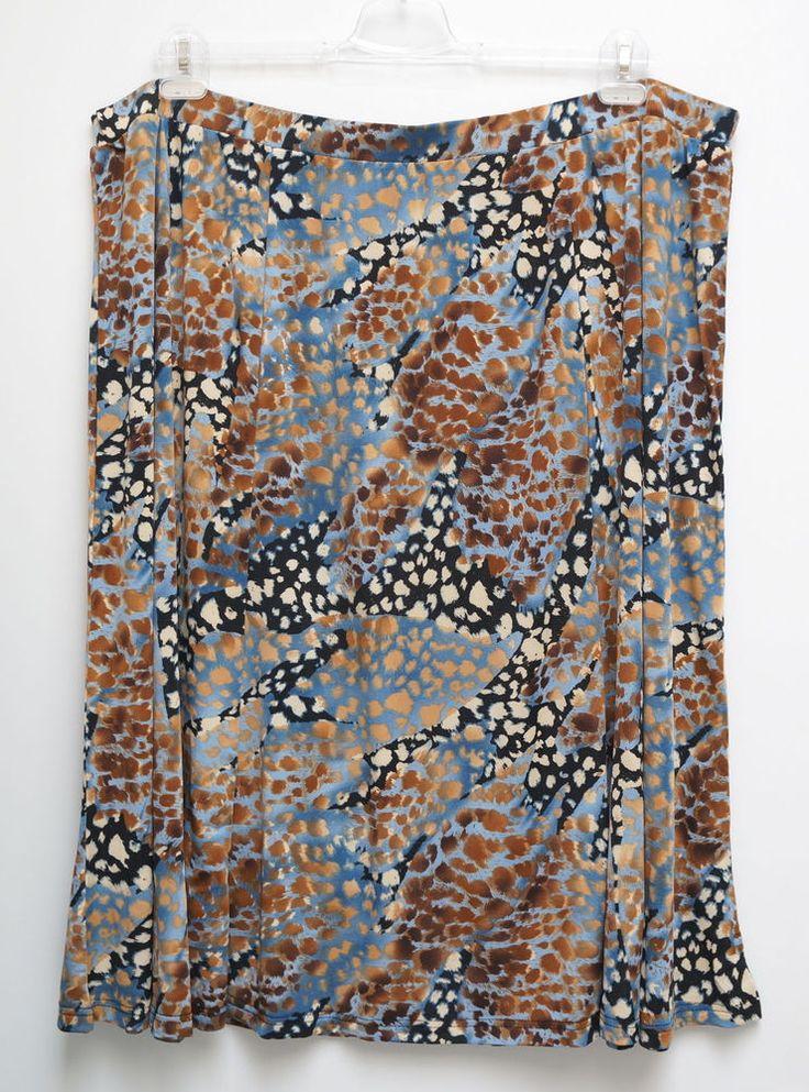 NEU Übergröße schicker Damen Stretch Rock tolle Farbkombination Gr.46,56,60,62