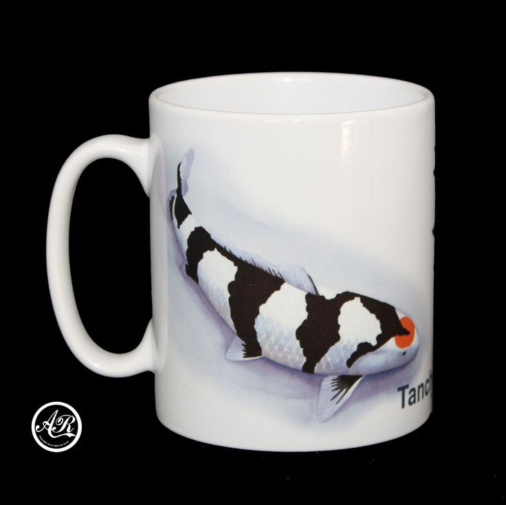 Tancho Showa Koi Carp 10oz Mug Japanese Text Fathers Day Gift Ceramic Orca Coating Original Artwork by Anne Read by TechPerch on Etsy