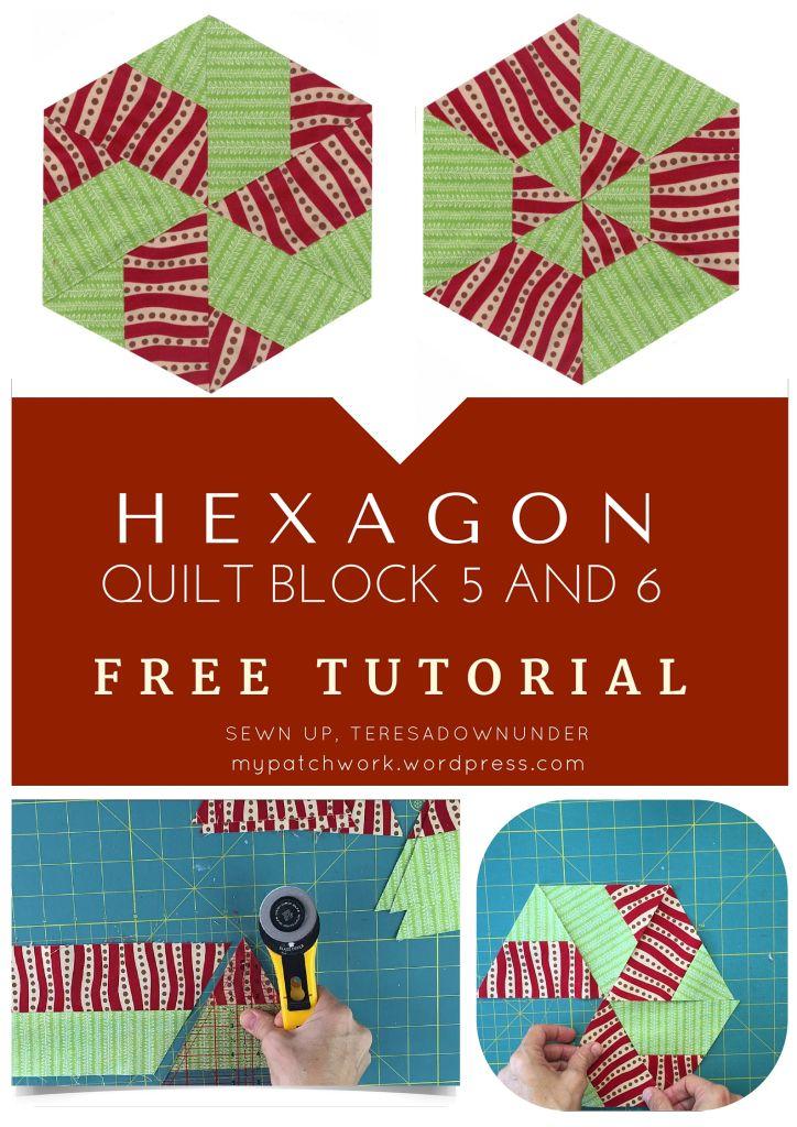 Afwerken Van Een Quilt.Video Tutorial Hexagon Quilt Blocks 5 And 6 Afwerken Quilts