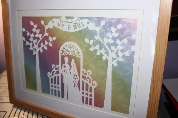 wedding papercut template