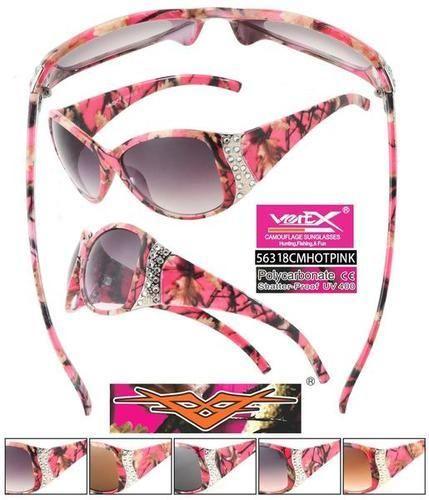 18.00$  Watch now - http://viuls.justgood.pw/vig/item.php?t=95r2aog22488 - Womens Designer Sunglasses Hot Pink Rhinestone Camo Sunglasses HPRH55 18.00$