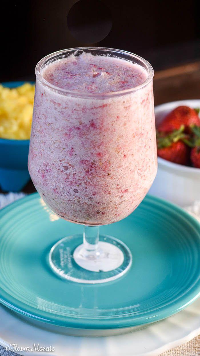Strawberry Pineapple Smoothie ~ FlavorMosaic.com