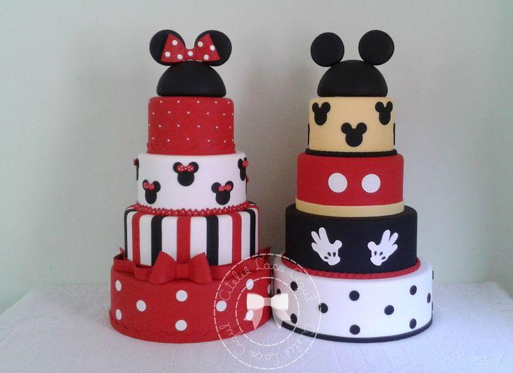 Bolos Mickey e Minnie   Ateliê Laço Azul   Elo7