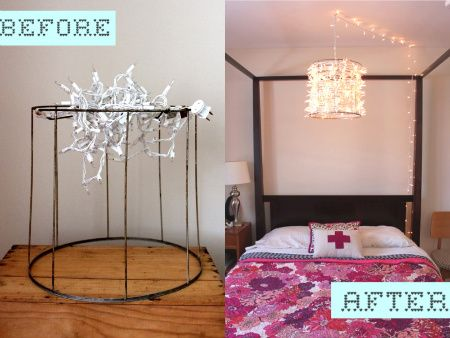 THIS. We don't have any overhead lights in our room, so we act like college kids do and hang fairy lights everywhere. This would be so wonderful though, and look so much better!