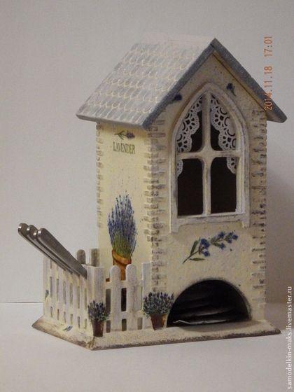 """Домик для хранения чайных пакетиков с забором """"Лаванда"""" - подарок,подарок девушке"""
