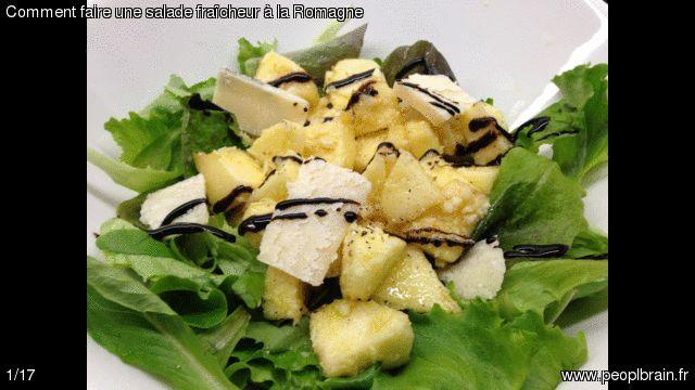 Comment faire une salade fraîcheur à la Romagne? Préparez en quelques minutes une salade originale et simple, pleine de saveur et de fraîcheur. Un vrai délice en toutes saisons, à déguster en entrée ou en plat. La recette : http://www.peoplbrain.fr/tutoriaux/cuisines/une-salade-fraicheur-a-la-romagne