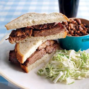 Texas: Texas BBQ brisket. There's really no other way to eat the brisket. Unless of course you want to add mayo, pickles, and warmed BBQ sauce.