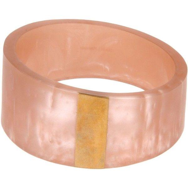 Isabel Marant Bracelet (197,350 KRW) ❤ liked on Polyvore featuring jewelry, bracelets, pink, pink bangles, isabel marant jewelry, pink jewelry, isabel marant and resin bangle