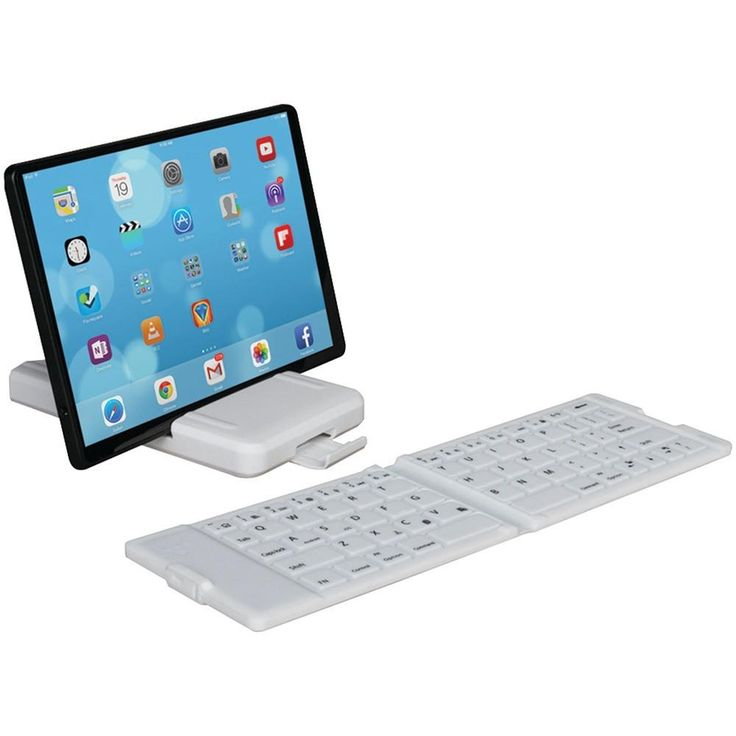 IWERKZ 44672 Waterproof Bluetooth(R) Folding Keyboard (White)